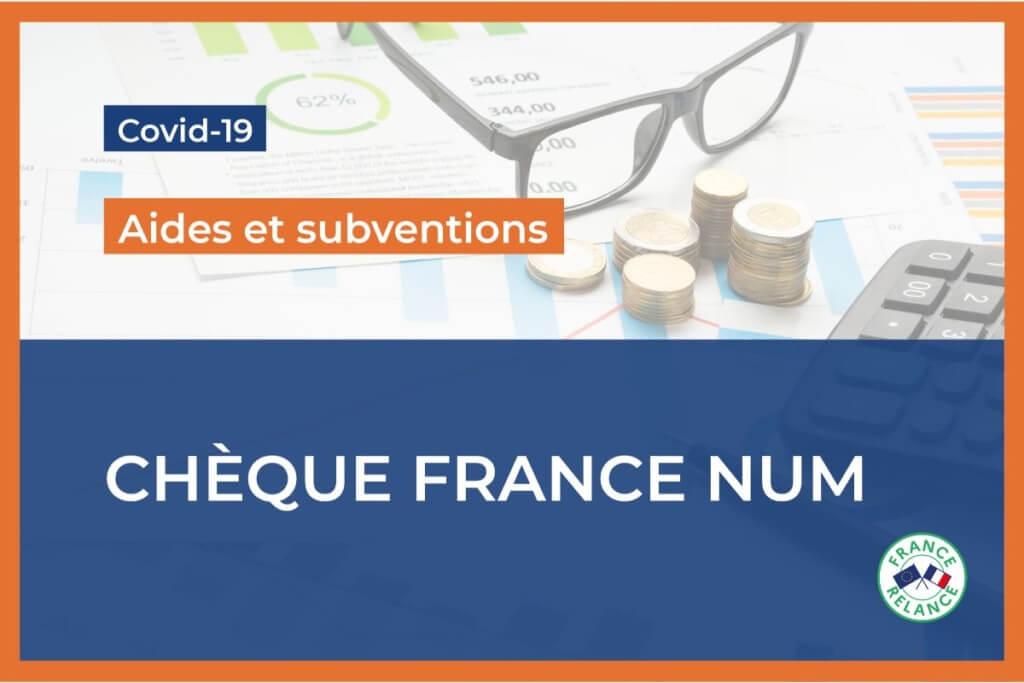 Le chèque France Num : 500€ en soutien à la digitalisation de votre commerce